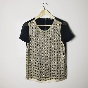 Diane Von Furstenburg $398 embellished Top sz 4
